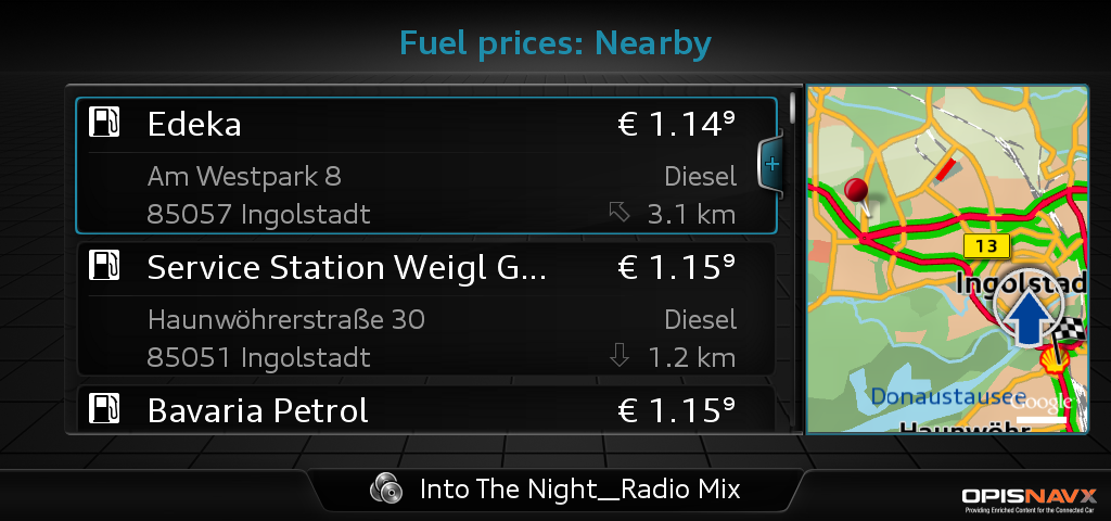 Audi connect - Fuel stations